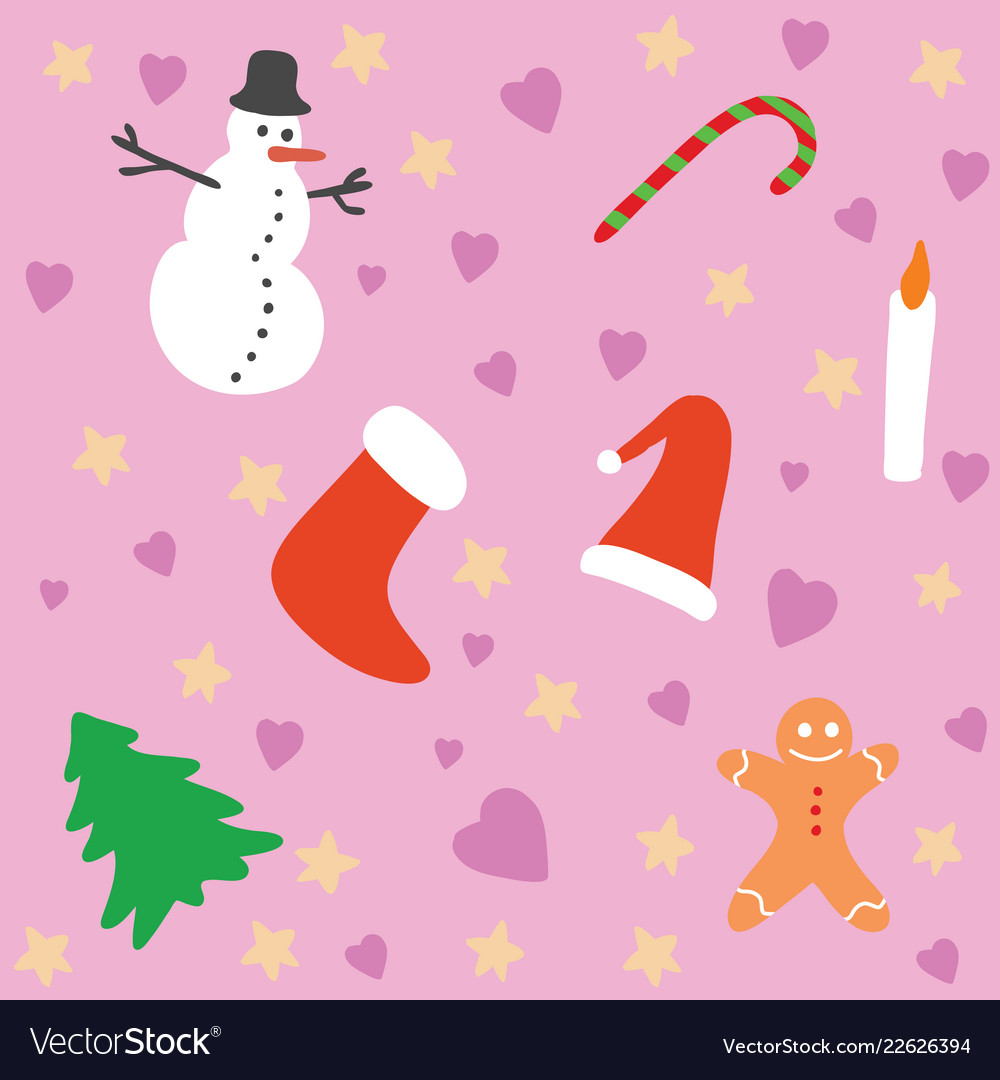 A christmas background pattern with pink