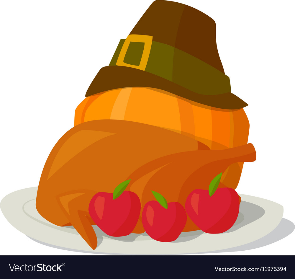 Autumn food composition vector image