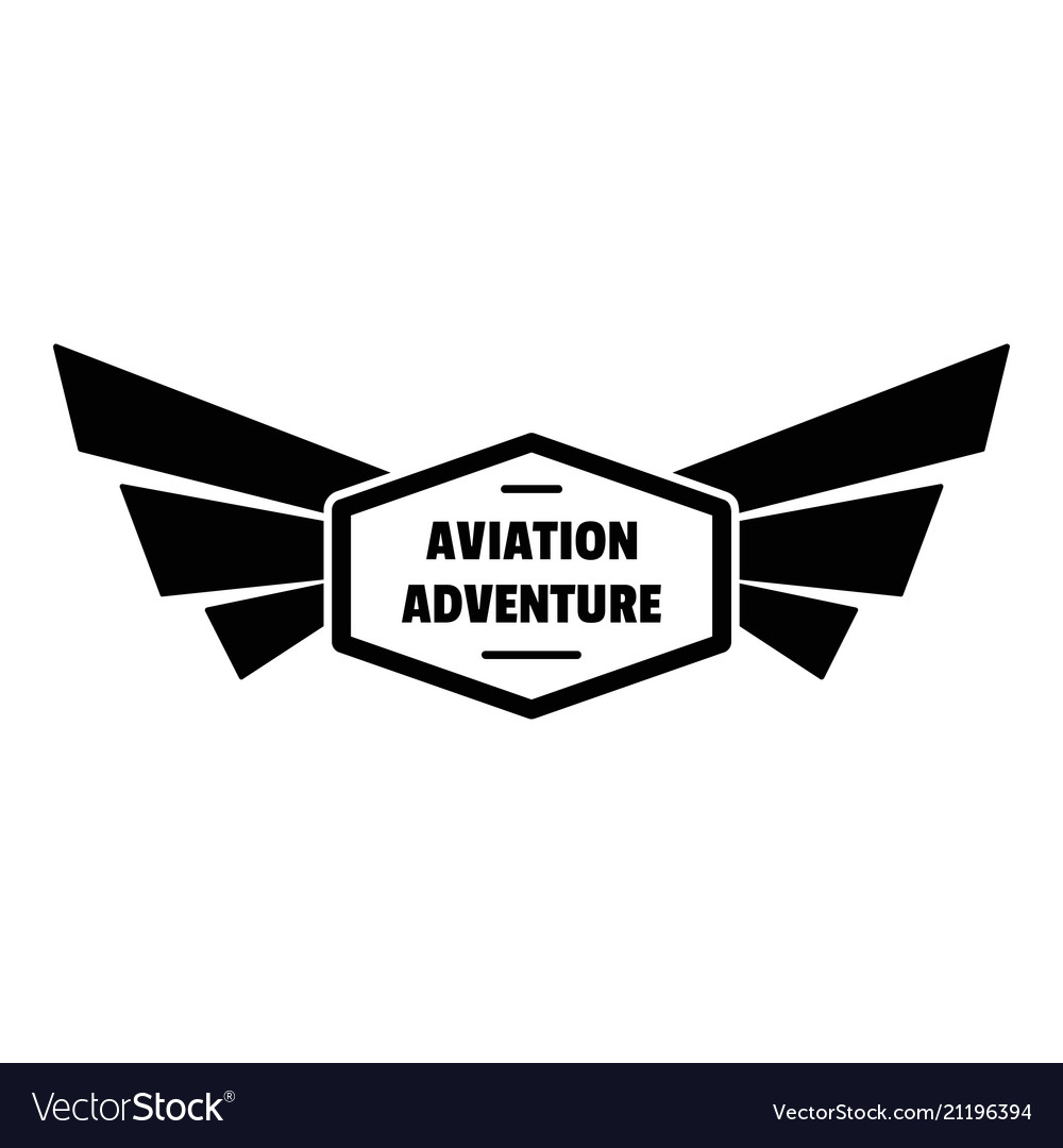 Avia adventure logo simple style