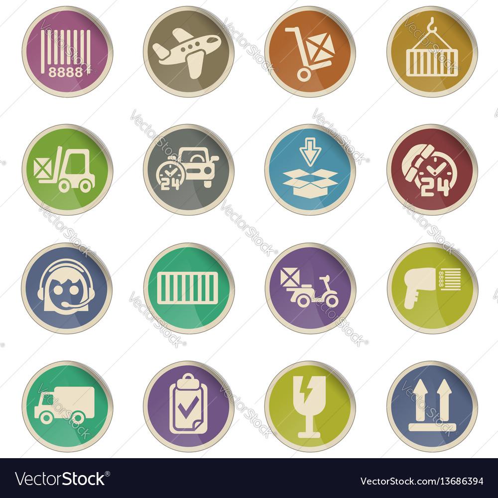 Delivery service icon set vector image