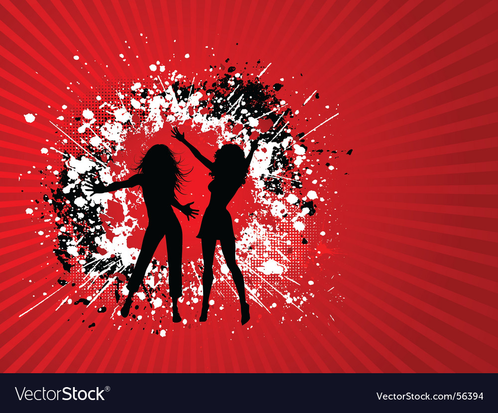 Grunge females vector image