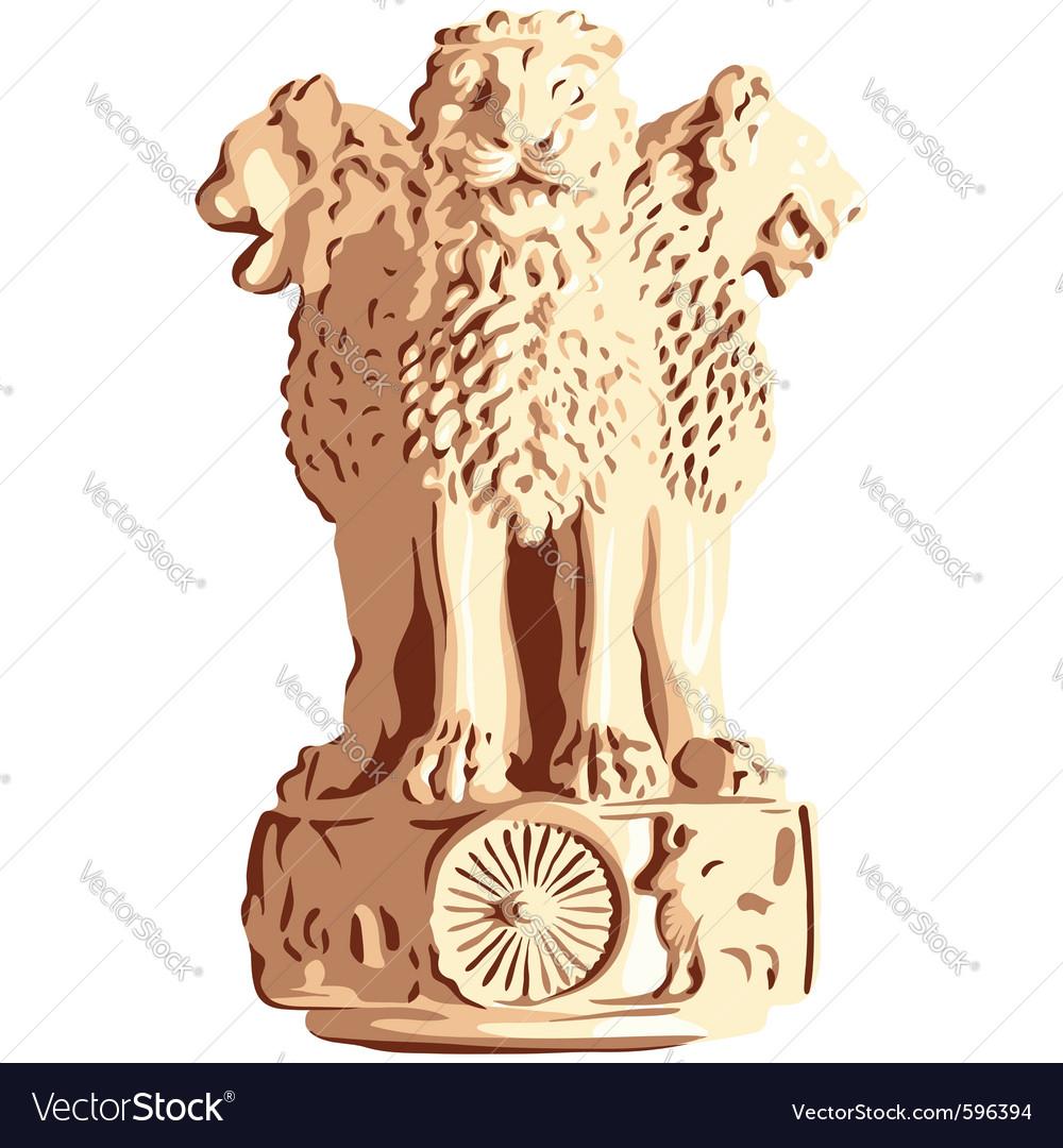 Indian lions emblem of ashoka
