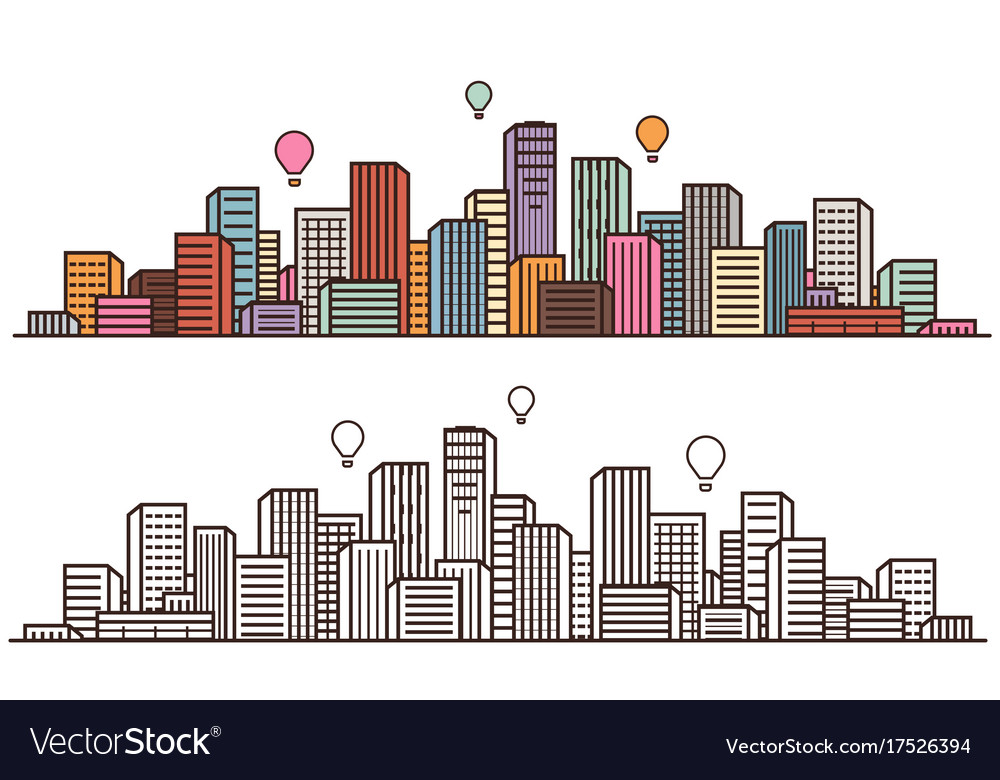 Modern city view cityscape urban landscape