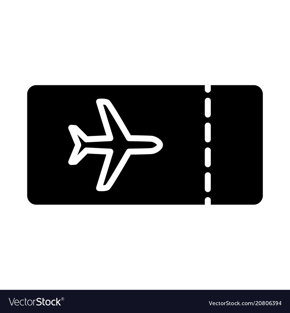 Plane ticket icon simple minimal 96x96 pictogram