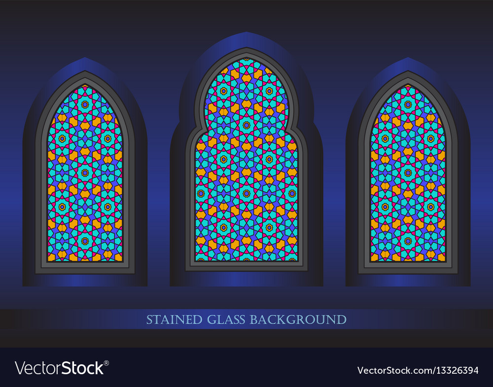 Stained glass background vector image
