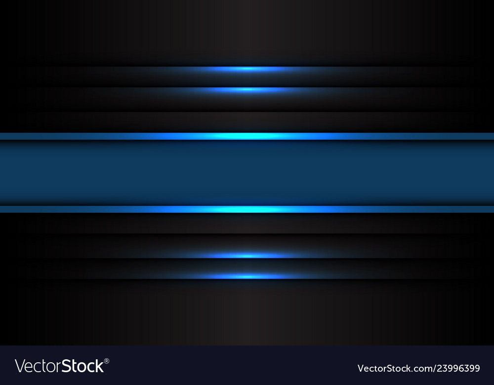 Abstract blue banner line light on black