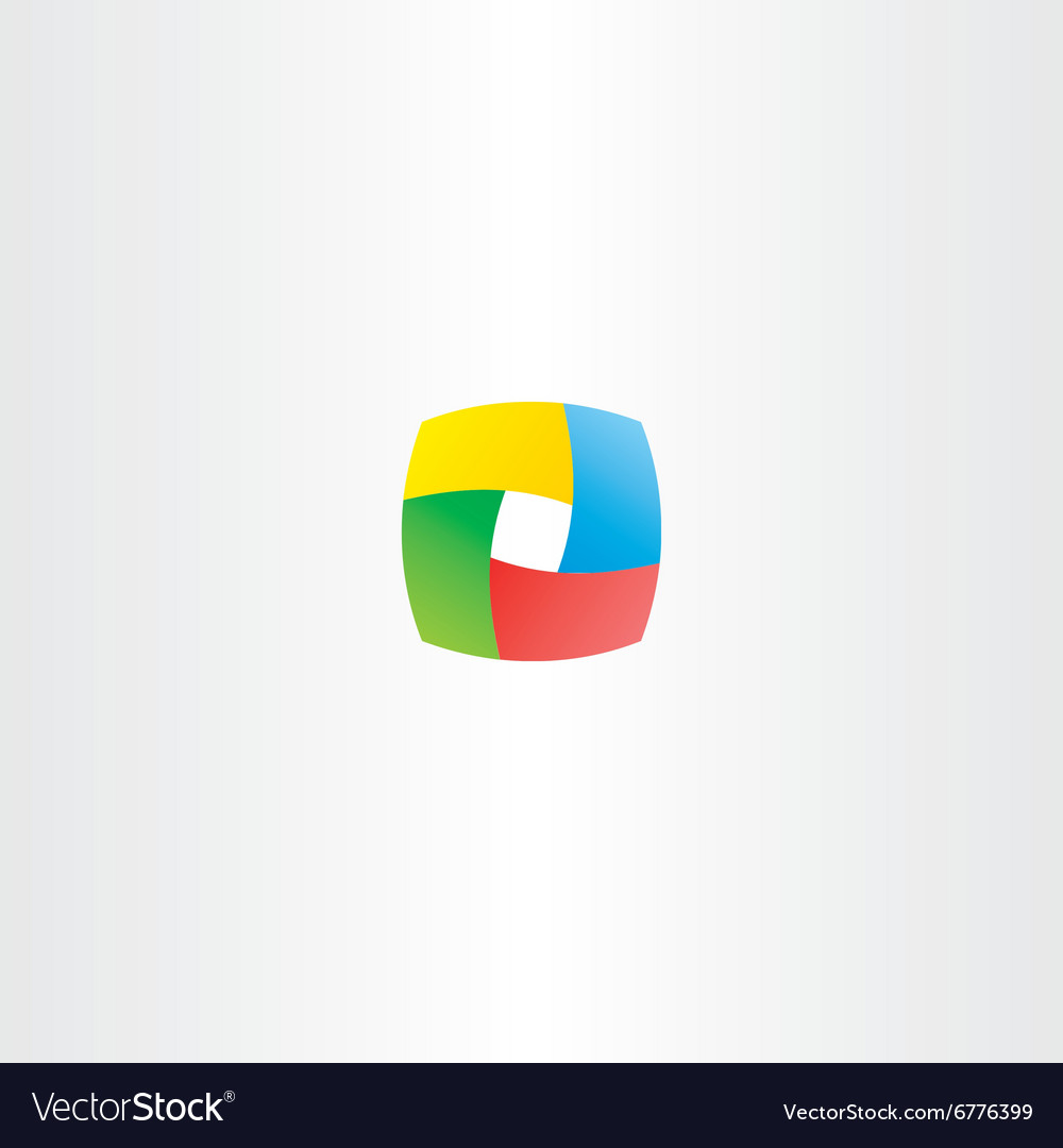 Abstract business colorful cube logo square box