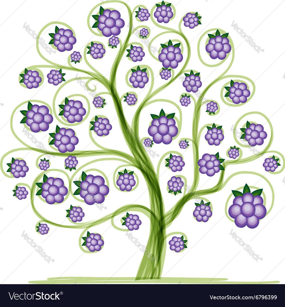 Blackberry tree for your design
