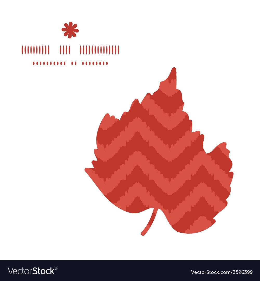 Colorful ikat chevron leaf silhouette pattern