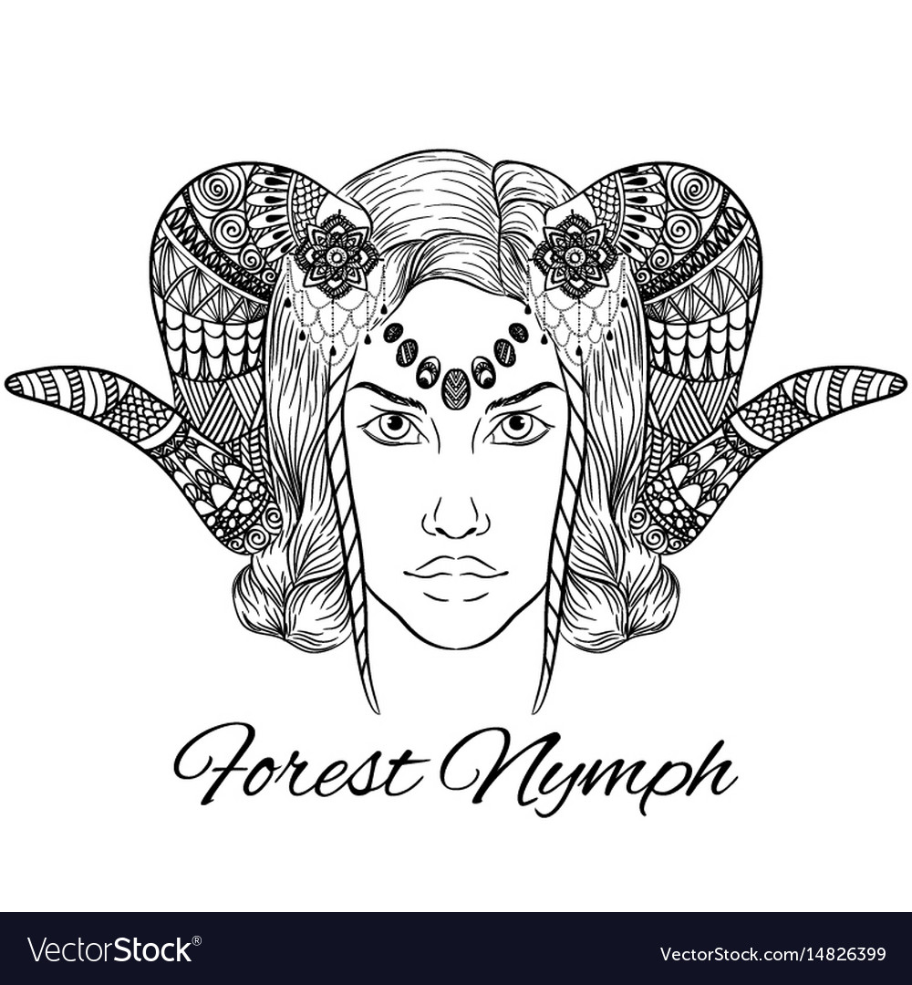 Forest nymph anti stress vector image