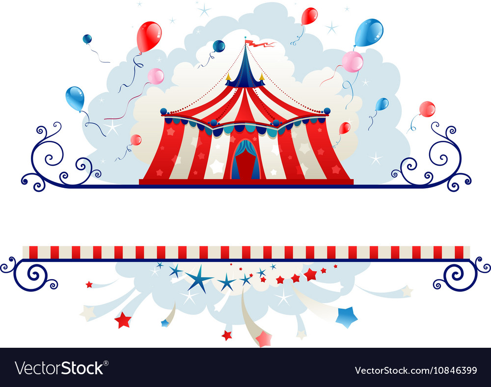 Frame with circus tent Royalty Free Vector Image