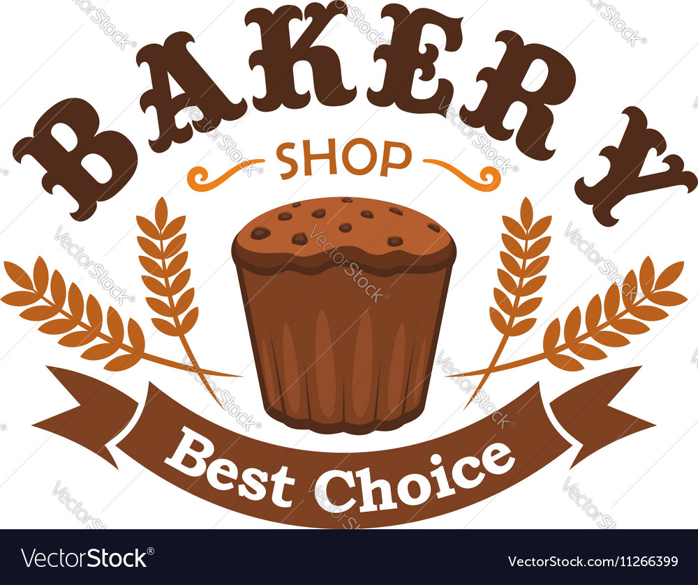 Fresh baked rye bread icon for bakery shop emblem
