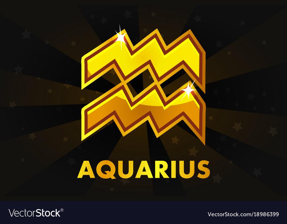 Golden astrology signs on black background zodiac
