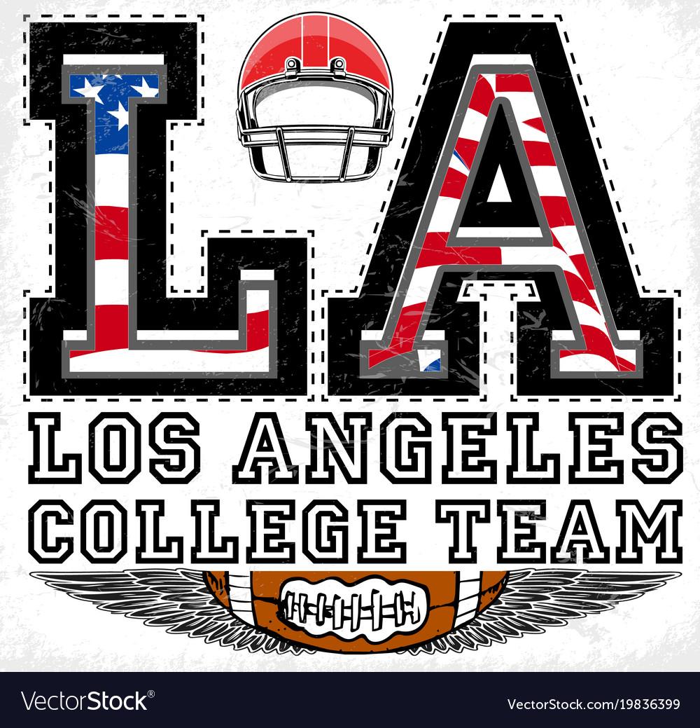 La los angeles athletic graphic design