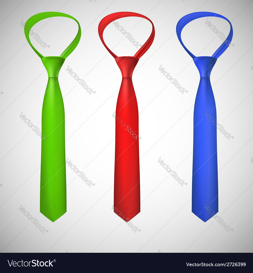 Neck ties collection vector image