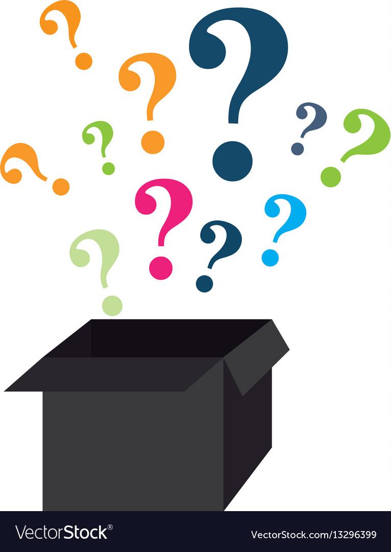 Question mark symbol icon vector image