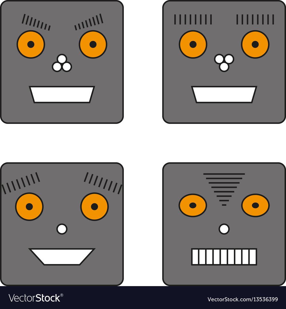 Set of four robots