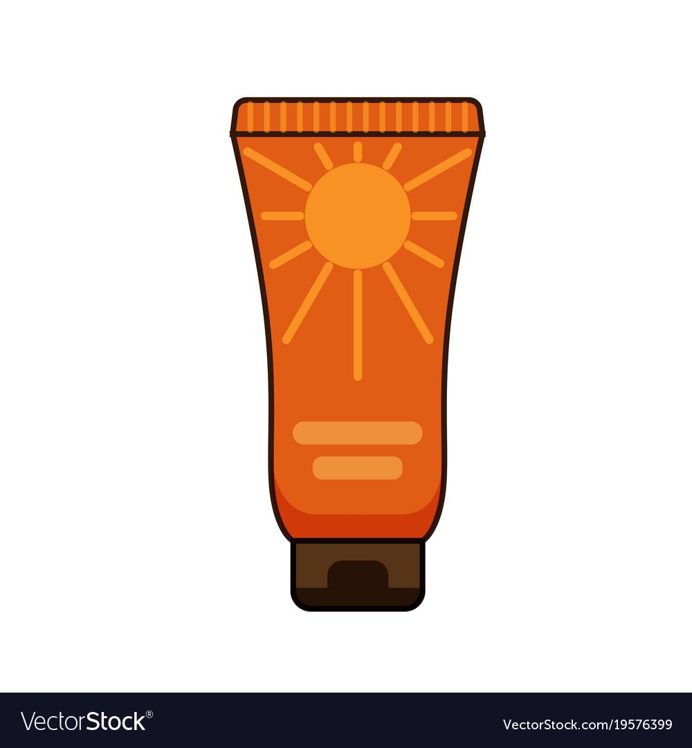 Sun protection cream tube summer