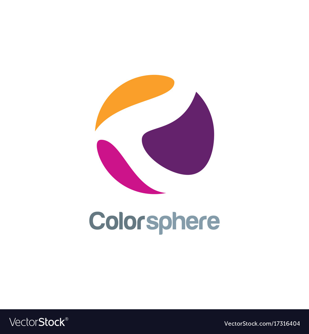 Color sphere abstract logo