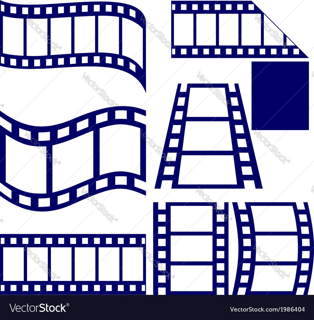 Film strip icon set