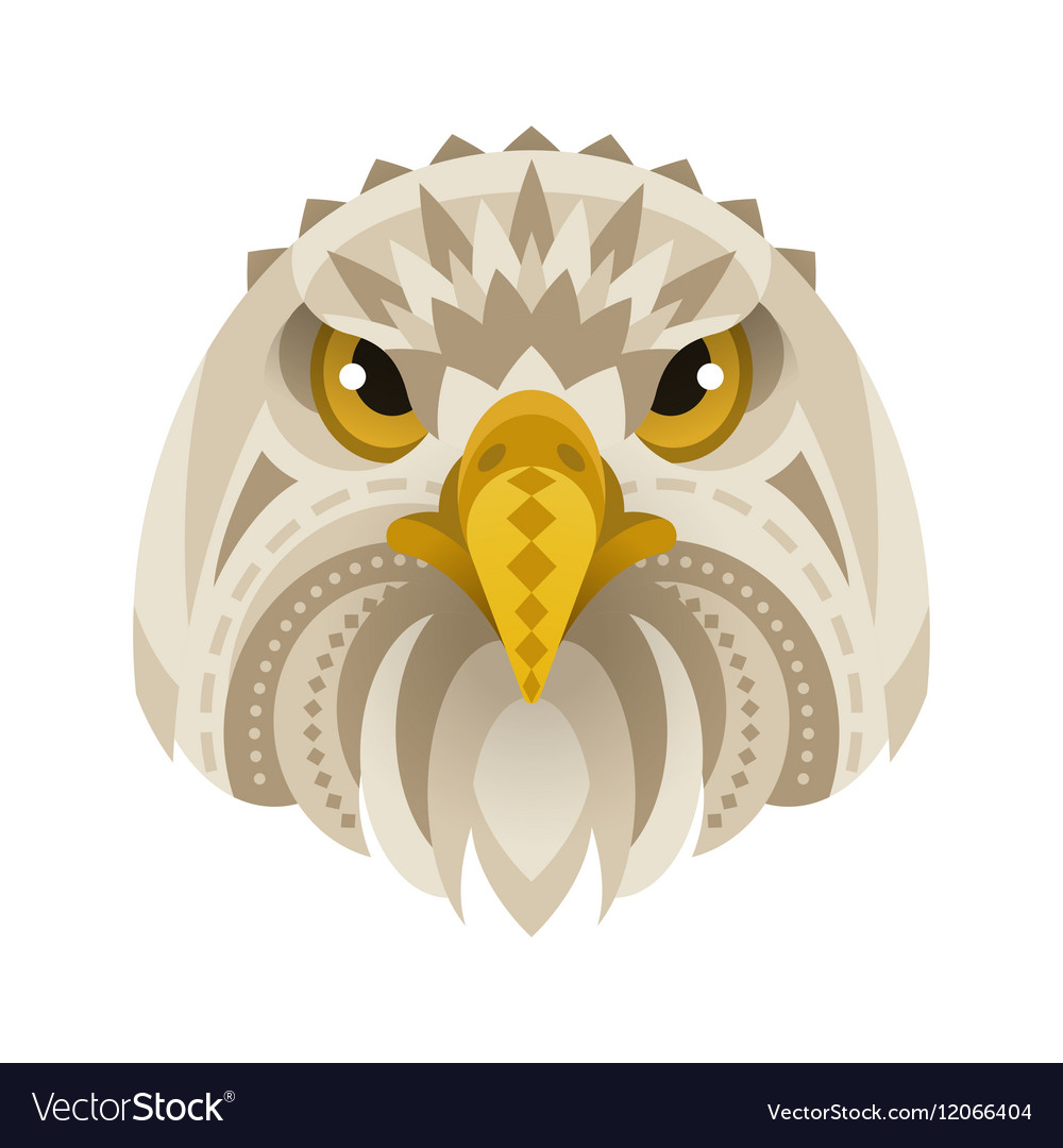 Flat style of eagle face