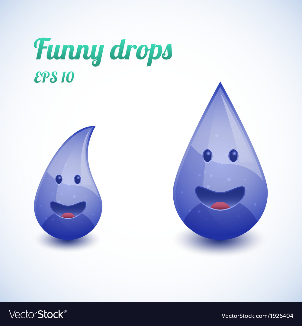 Funny water drops