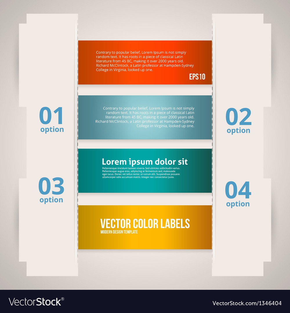 Option Banner Design vector image