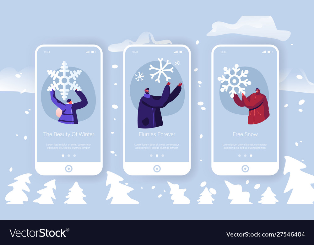 Winter time outdoors spare time mobile app page