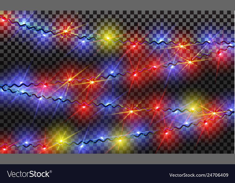 Eps10 garlands christmas decorations lights