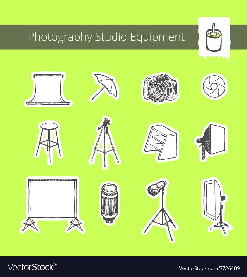 Photography Studio Equipment vector image