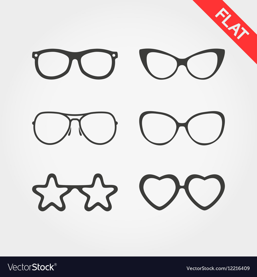 12034f78f1 Set spectacle frames royalty free vector image jpg 1000x1080 Glasses frames  vector
