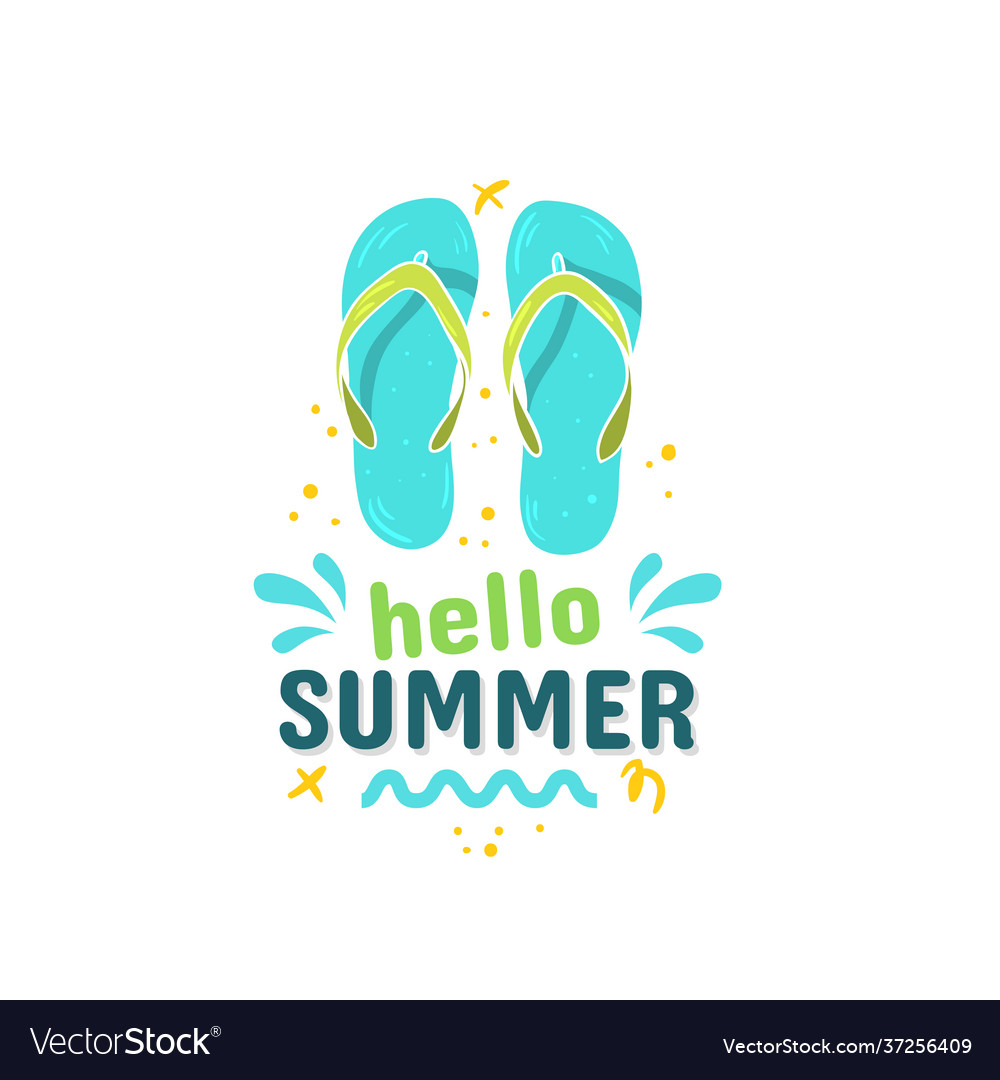 Summer summertime themed typographic