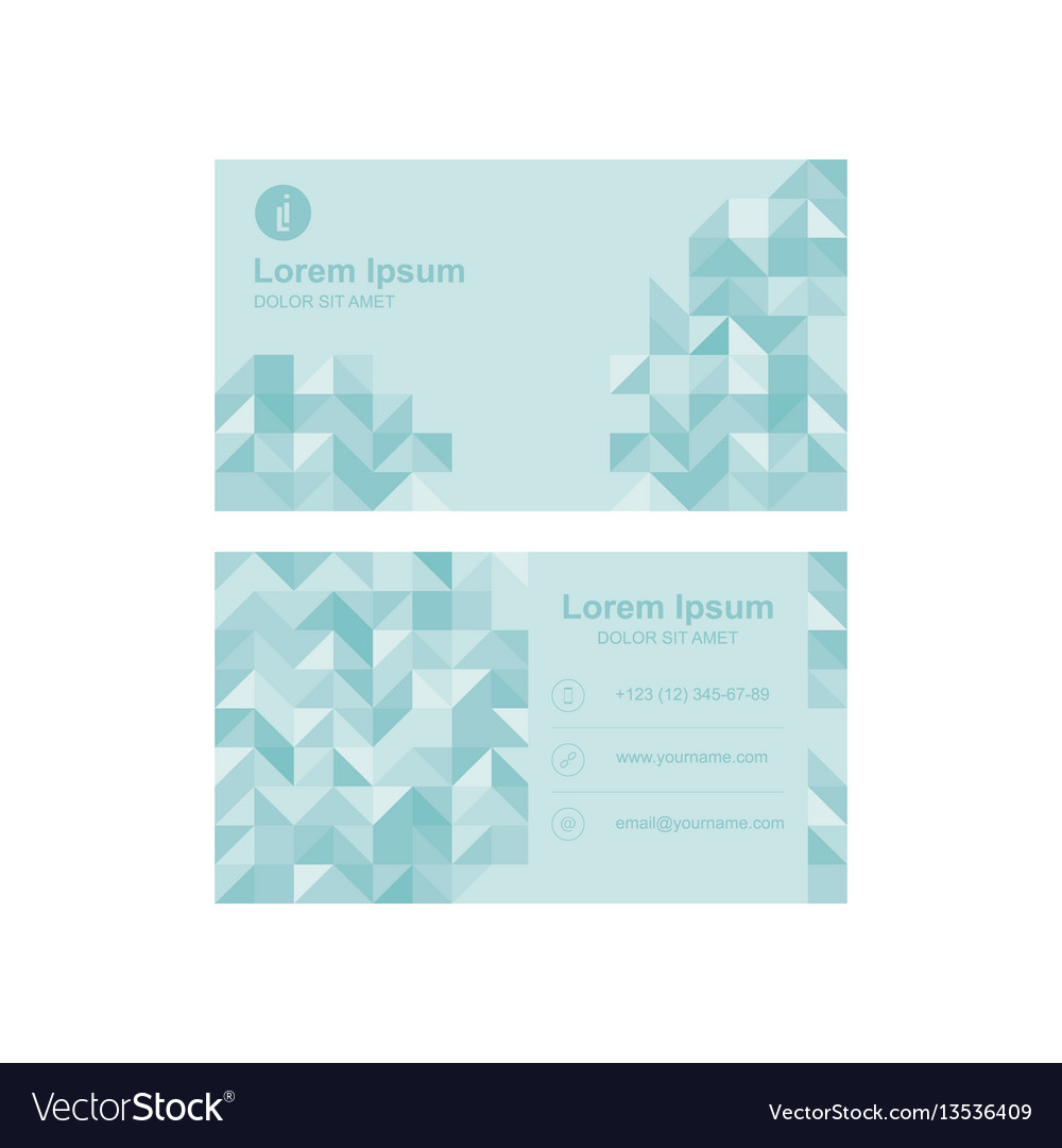 Template of a modern business card for business
