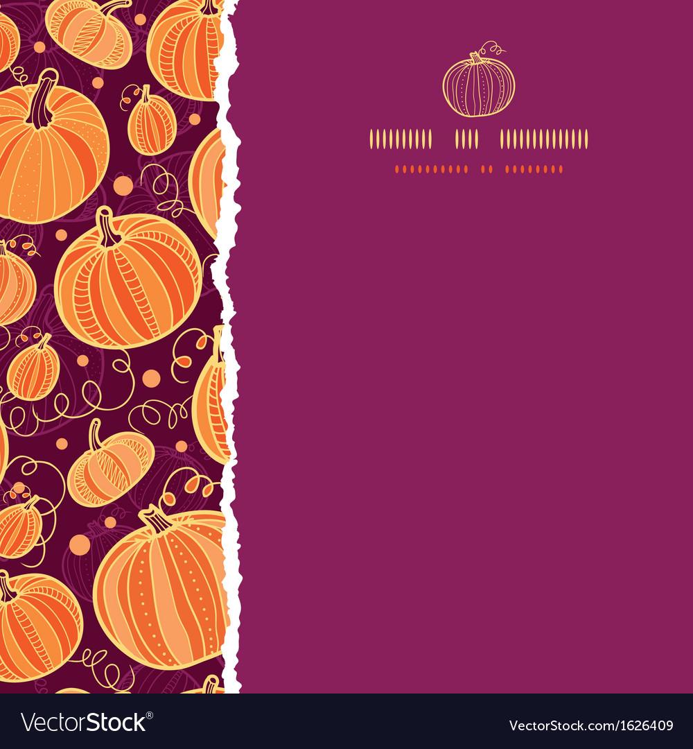 Thanksgiving pumpkins square torn seamless pattern