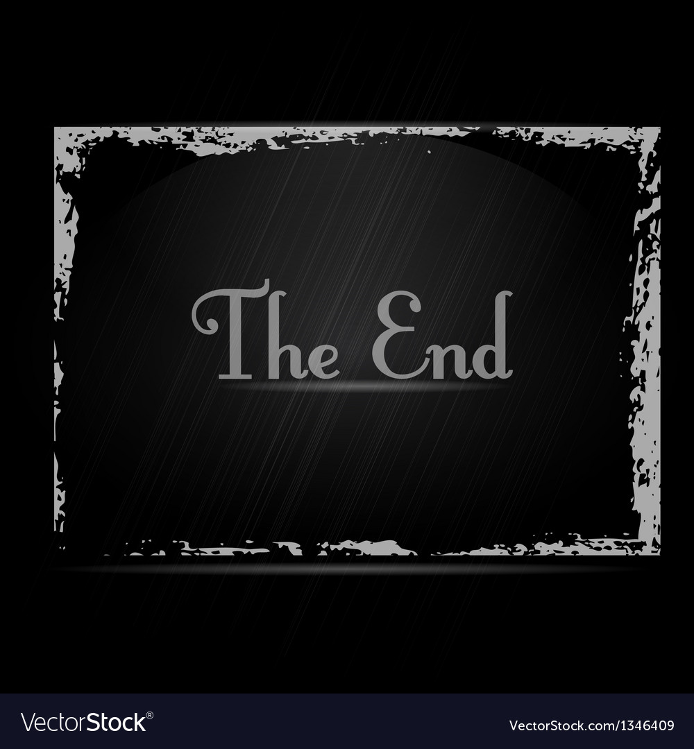 The End vector image