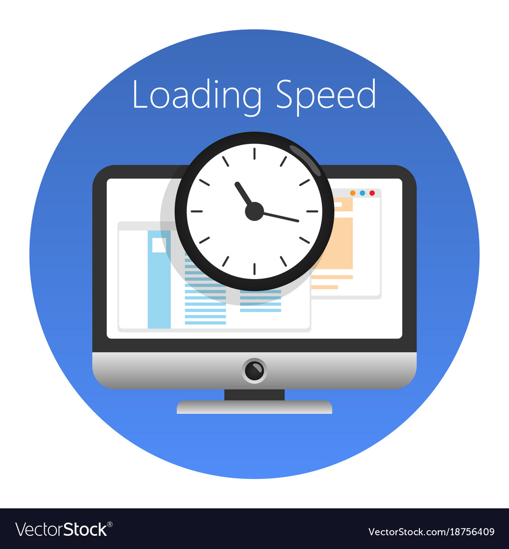 Website loading speed or worked time icon