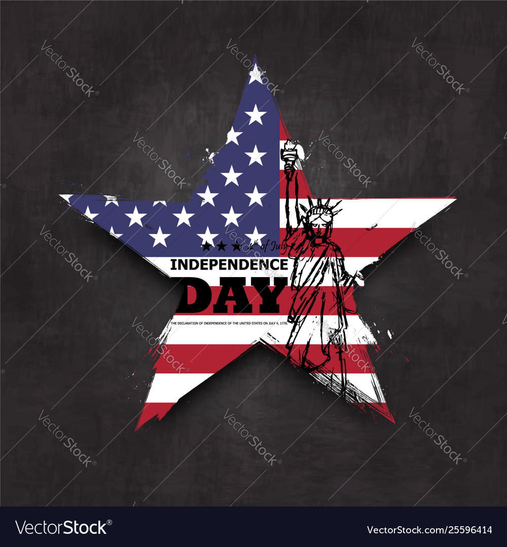 4th july independence day usa grunge star