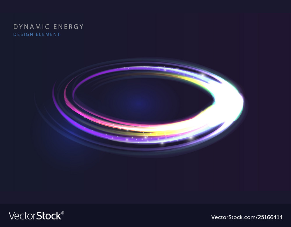 Abstract glowing circle backround neon lights in