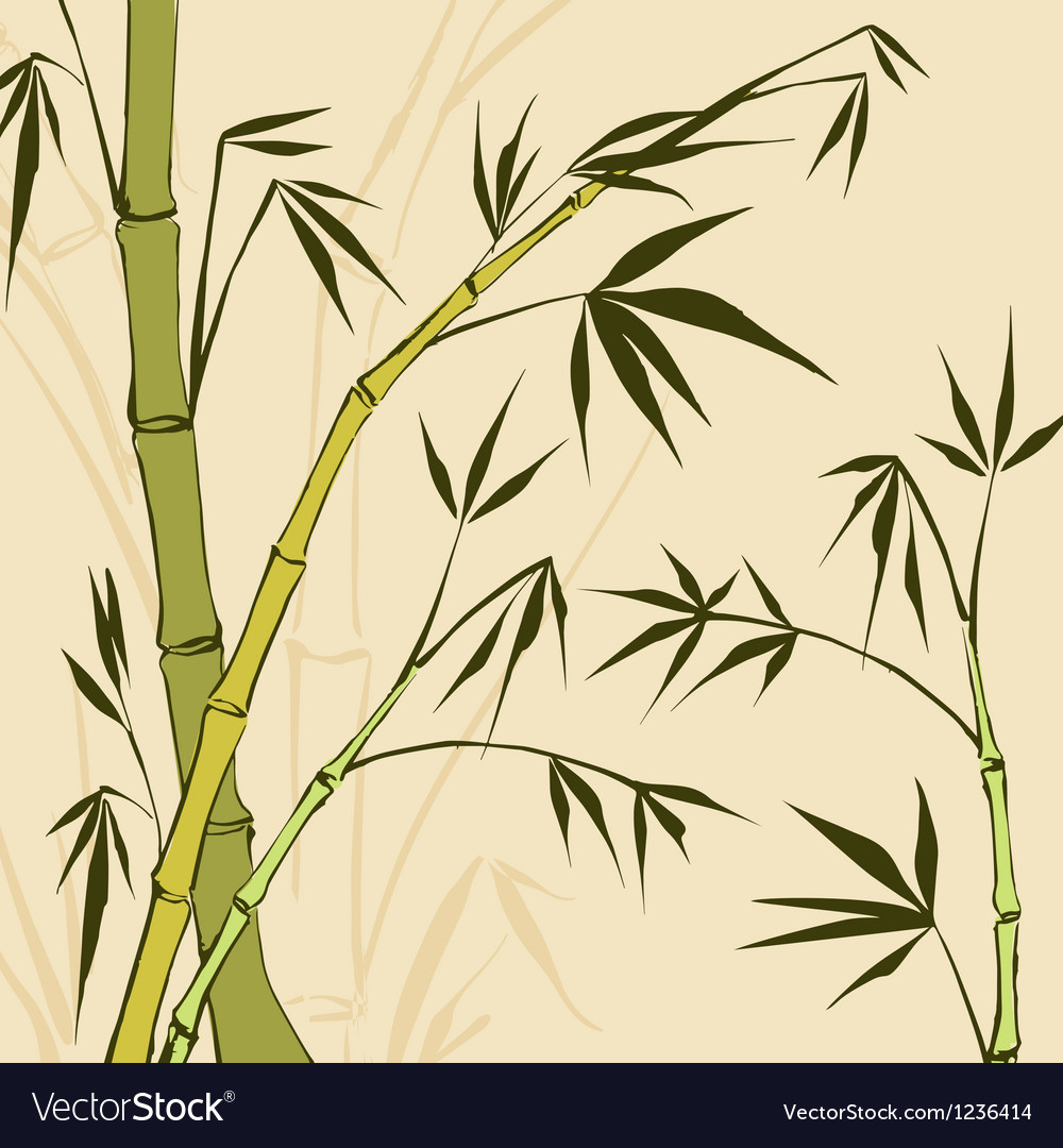 Bamboo Painting vector image