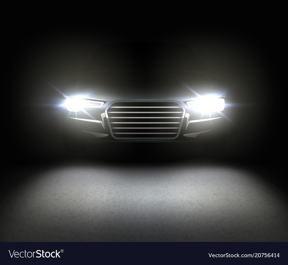 Car with headlights