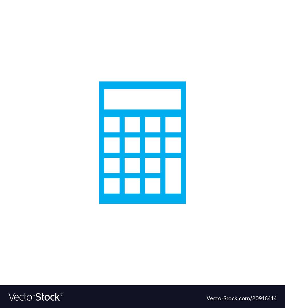 Financial calculator linear icon concept