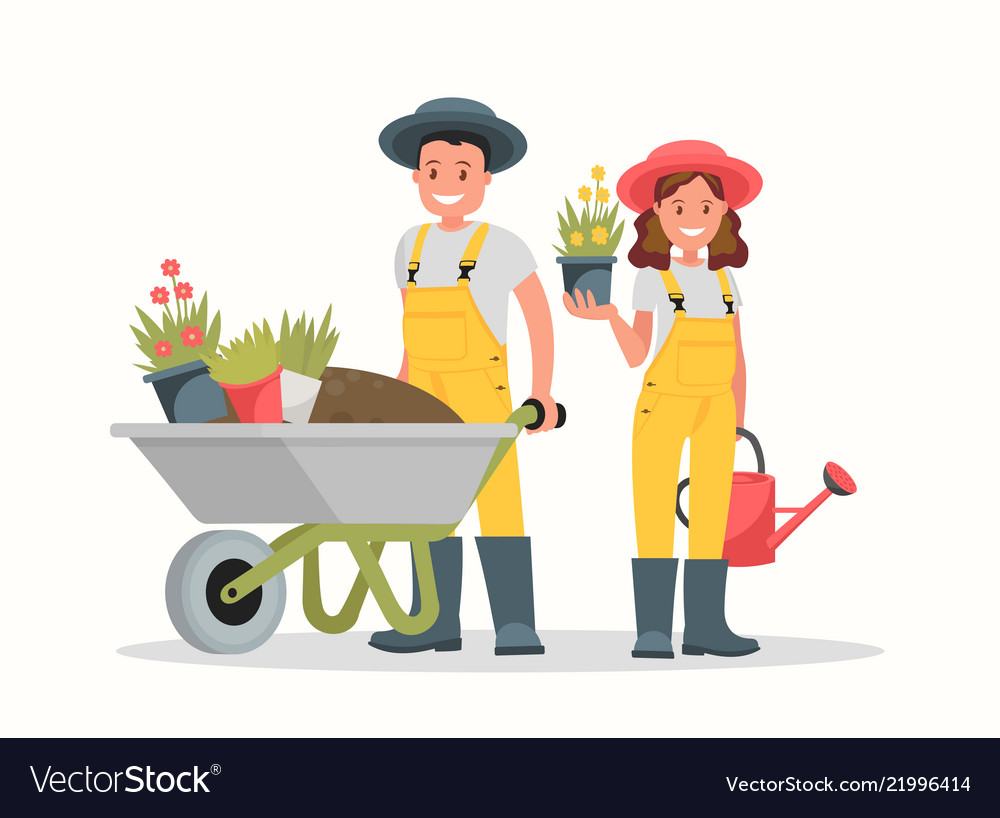 Gardeners man and woman