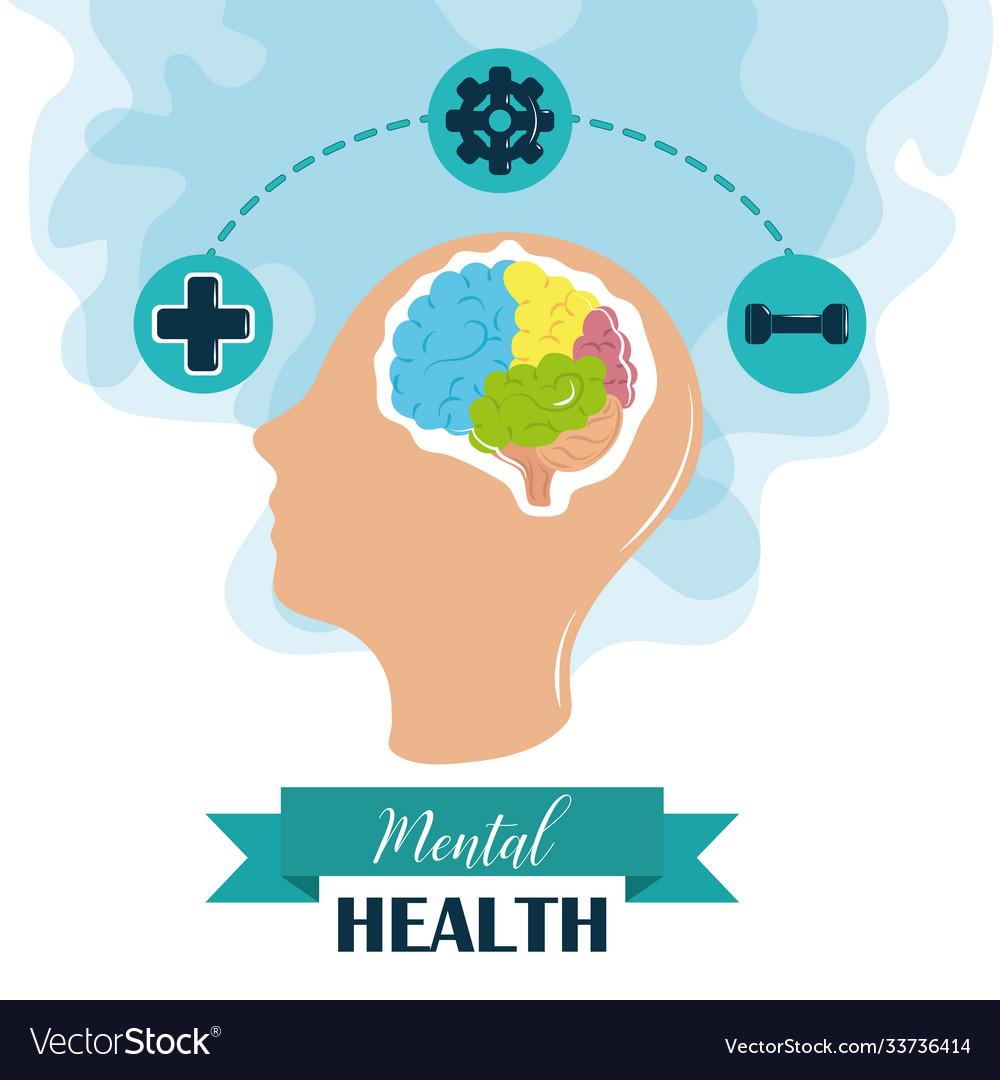 Mental health day human head brain activities
