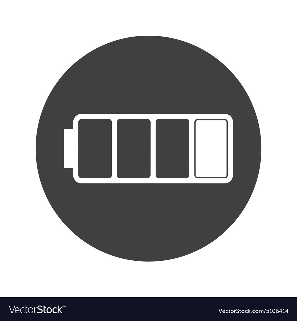 monochrome round low battery icon royalty free vector image vectorstock