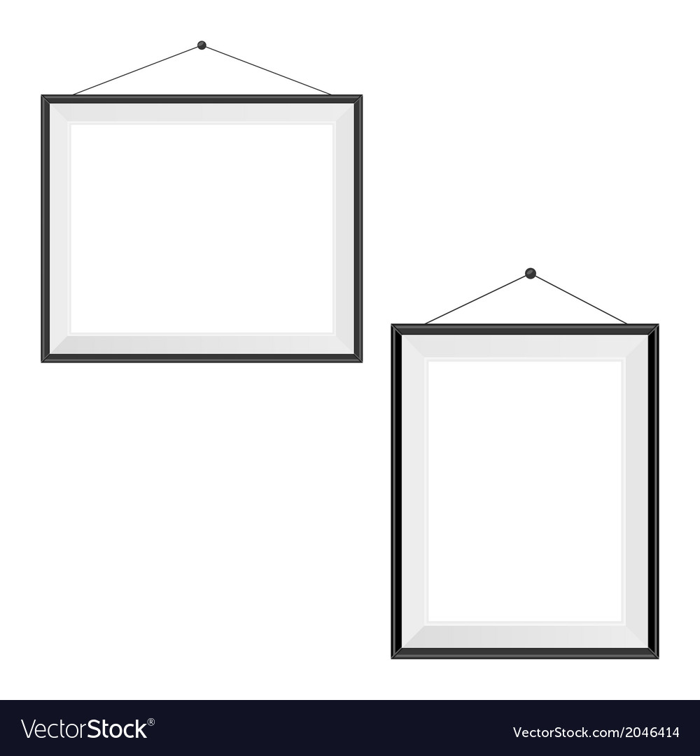 Two Blank Frames On A White Royalty Free Vector Image