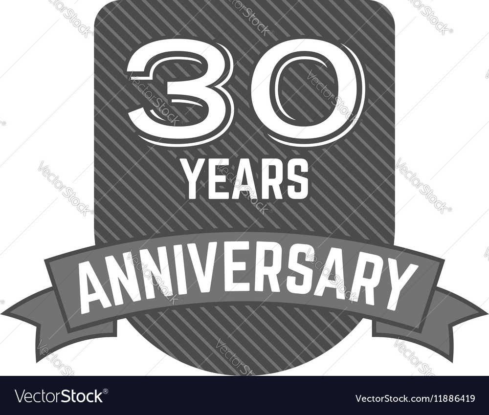 30 years Anniversary badge sign and emblem with
