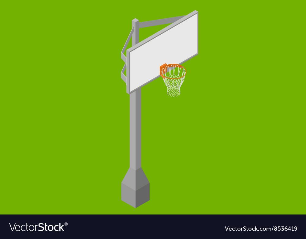 Basketball backboard isometric flat vector image
