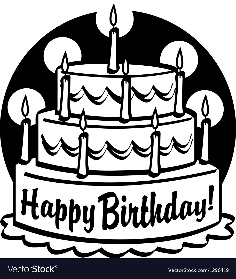 Marvelous Birthday Cake Royalty Free Vector Image Vectorstock Funny Birthday Cards Online Alyptdamsfinfo