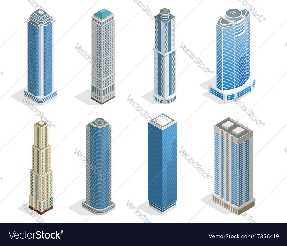 Buildings and modern city houses on 50-70 floors