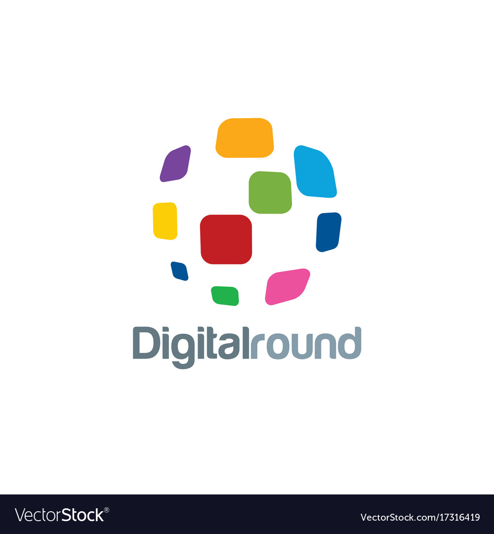 Digital round technology logo